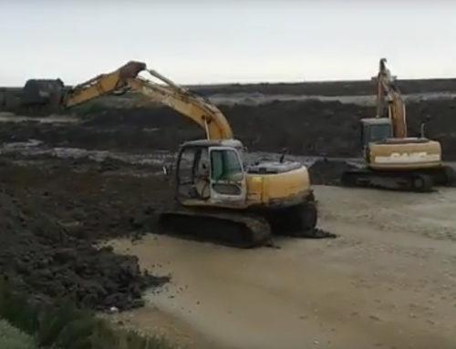 Obras no novo tanque (video)